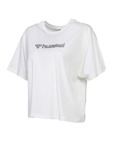 Hummel Kadın Tişört Teramo 911365-9003 Beyaz